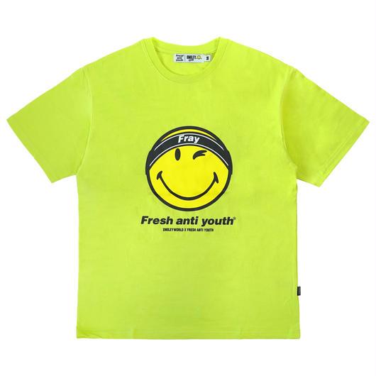 FRAY LOGO SMILE T-SHIRTS-NEON