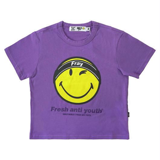 FRAY LOGO SMILE T-SHIRTS (FOR WOMEN)-VIOLET