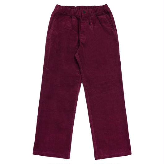 CORDUROY WIDE PANTS-BURGUNDY