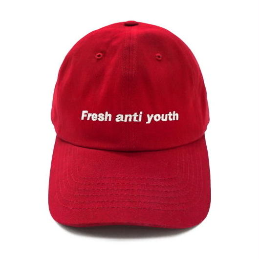 Fray logo ball cap-red