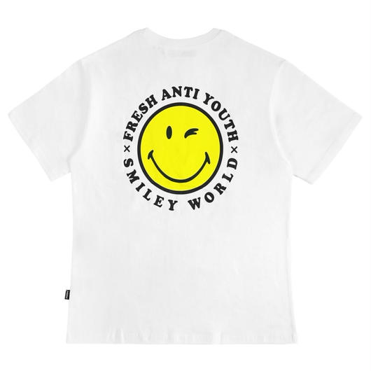 ANTI SMILE T-SHIRTS-WHITE
