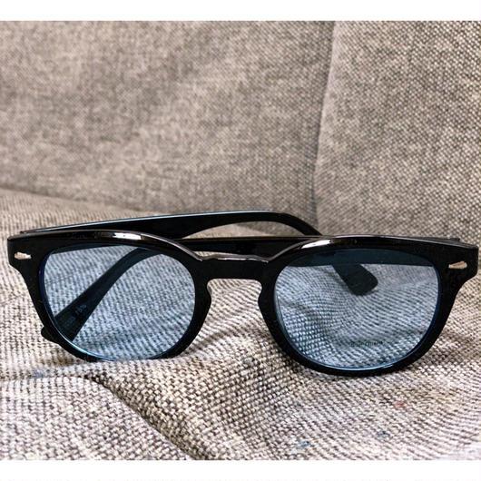カラーレンズサングラス ブラック×ブルー