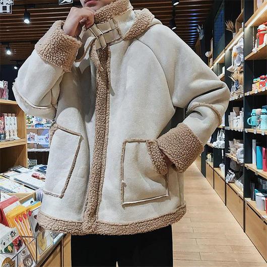 2XLまで★韓国スタイルメンズボアジャケット アウター 2色