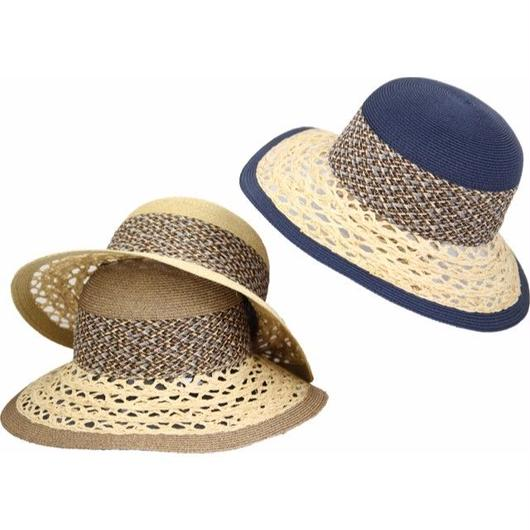 [ROBERTIDEA] r9558 ロベルトイデア イタリア製 ブレードHAT 帽子 おしゃれ ストローハット 麦わら帽子 春夏新作 リゾート帽子 レディース
