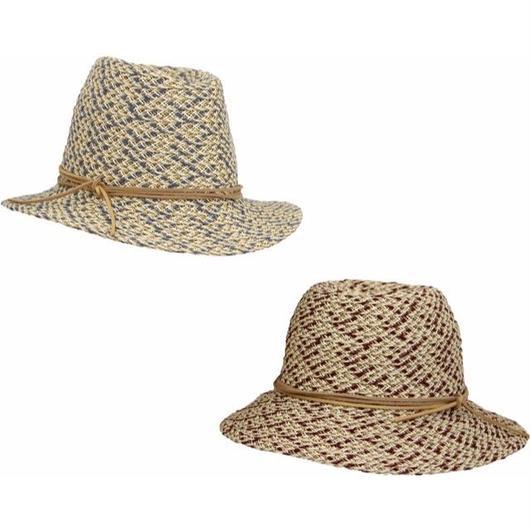 [MARZI] ma16528 マルツィ イタリア製 ブレード中折れHAT 帽子 おしゃれ ストローハット 麦わら帽子 春夏新作 リゾート帽子 レディース
