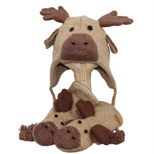 【 knit wits】ニットウィッツ シカ 手編みニット ウィンター/ミトン 大人・子供セット