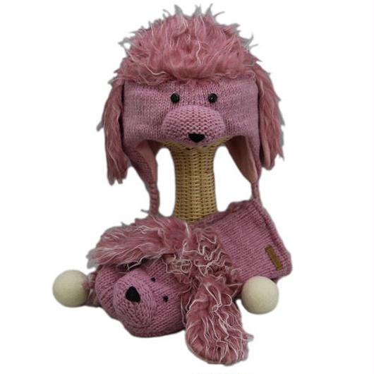 【 knit wits】ニットウィッツ  手編みニット プードル ウィンター/ミトン 大人・子供セット
