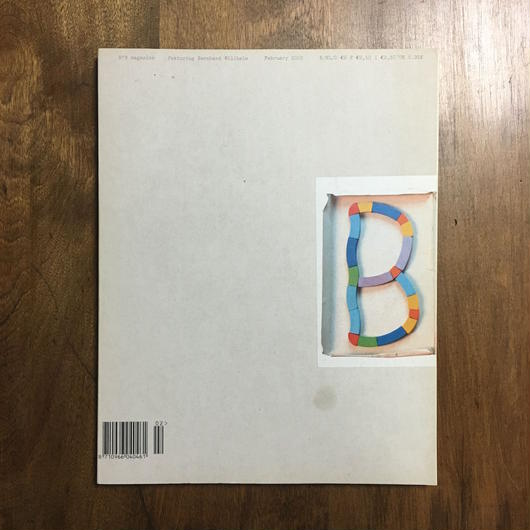 「No.B magazine Bernhard Willhelm」 Luc Tuymans Wolfgang Tillmans etc.
