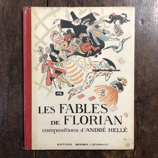 「Les Fables de Florian(1946年リトグラフ刷)」Andre Helle(アンドレ・エレ)