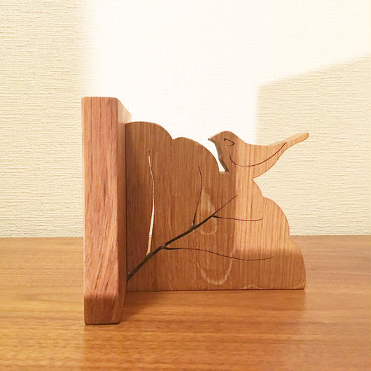 「BIRD BOOK END(キンカチョウ/ホワイトオーク)」