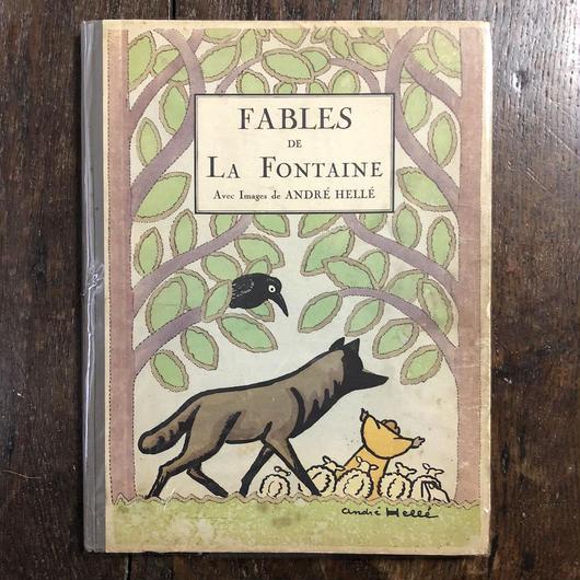 「FABLES DE LA FONTAINE(1923/24年、ポショワール刷)」Andre Helle(アンドレ・エレ)