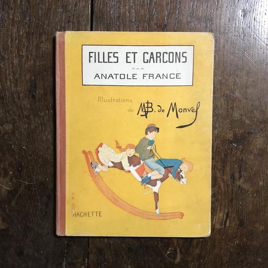 「FILLES ET GARCONS(1930年代)」Anatole France(アナトール・フランス) M.B. de Monvel(ブーテ・ド・モンヴェル)