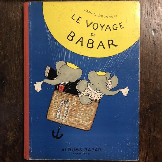 「LE VOYAGE DE BABAR(1946年版)」Jean de Brunhoff(ジャン・ド・ブリュノフ)
