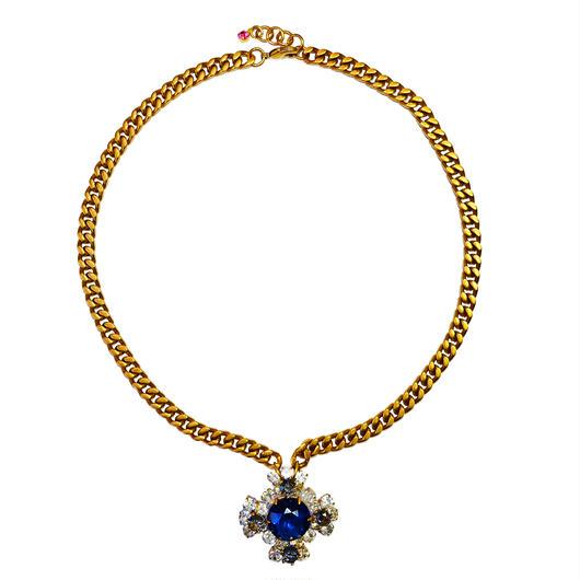 Petit Bouton ネックレス  Cross Czech button pendant necklace PBNL 15