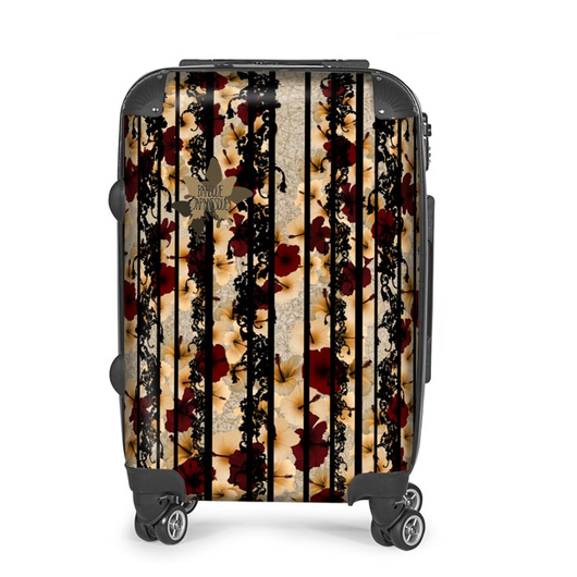 Hibiscus and baroque decoration Suitcase