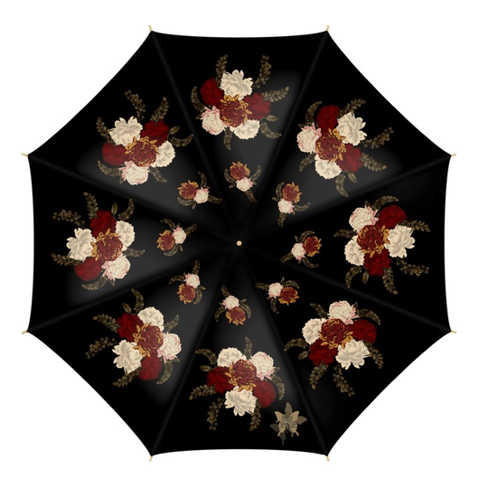 Japanese style flower art design Umbrella