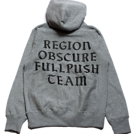 "Full Push ""Region"" Hoodie  / Gray 12oz Reverse Weave Body"