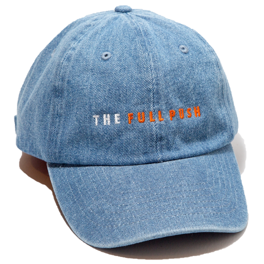 """THE FULLPUSH"" 6Panel Strapback Lt Indgo"