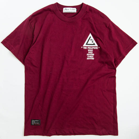 "Full Push  "" SANITY T-shirt "" Burgundy Body."