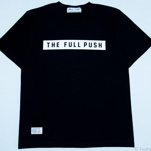 "Full Push "" Union Vow T-shirt "" Black Body."