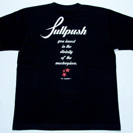 "Full Push "" Script Star T-shirt "" Black Body."