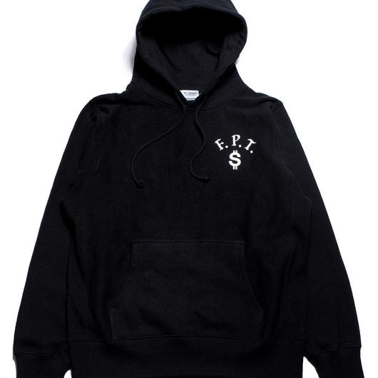 "Full Push ""Region"" Hoodie  / Black 12oz Reverse Weave Body"