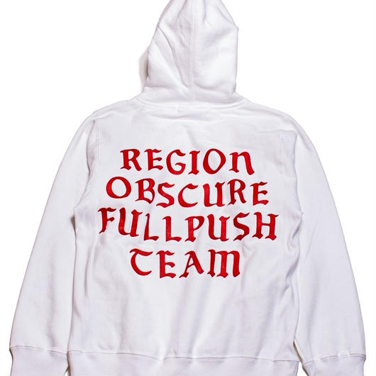 "Full Push ""Region"" Hoodie  / White 12oz Reverse Weave Body"