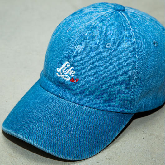 """Life is? 6Panel Strapback"" Light Indigo Color"