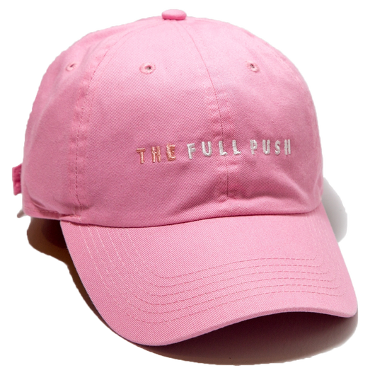 """THE FULLPUSH"" 6Panel Strapback  Lt Pink"