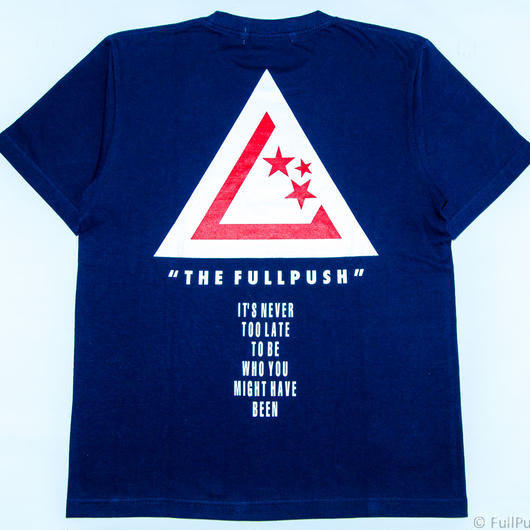 "Full Push  "" Union Vow T-shirt "" Navy Body."