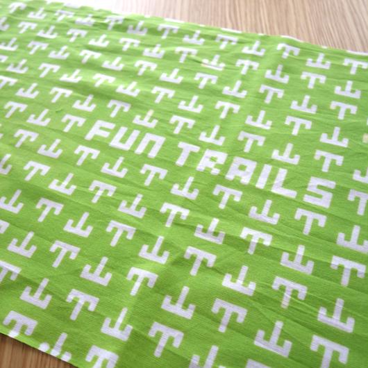 【手ぬぐい(緑)】FunTrailsオリジナルデザイン