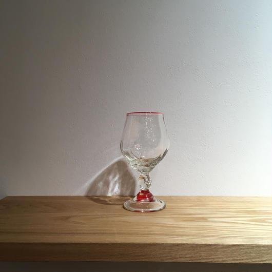 赤巻ワイングラス「作家 村上恭一」