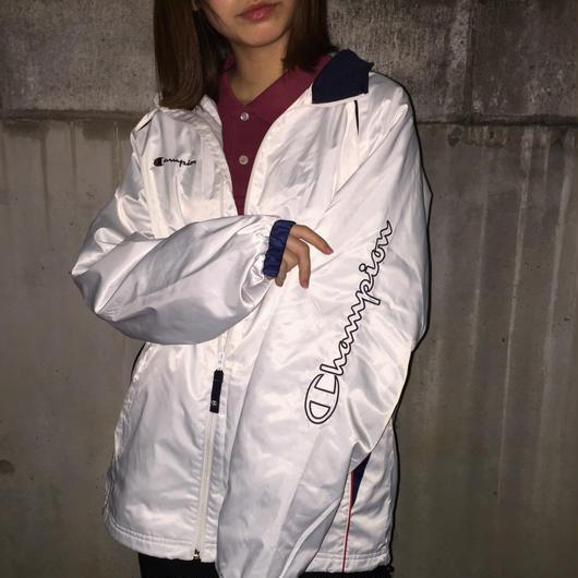 Champion sleeve logo nylon jacket