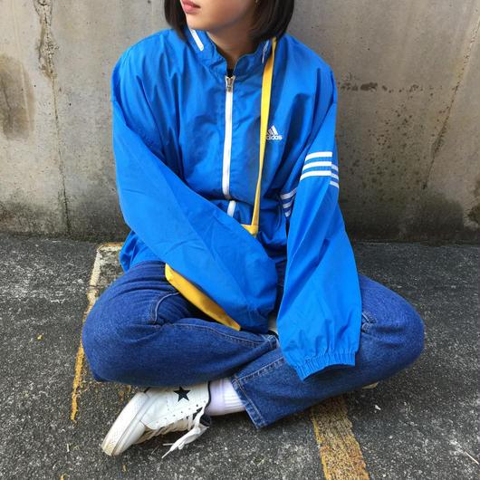 Adidas blue sleeve line nylon jacket