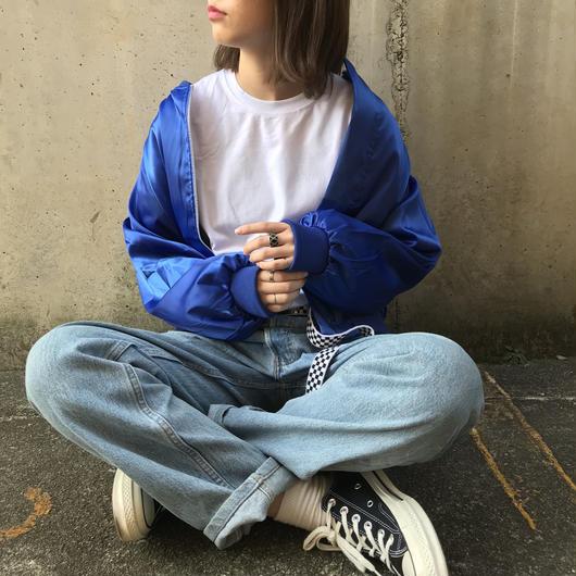 satin pika blouson(blue)