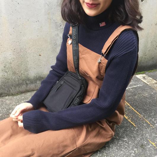 Polo high neck navy knit