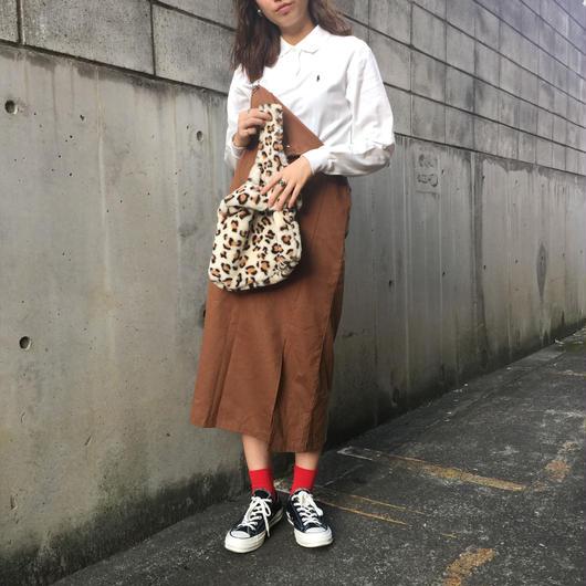90s jumper skirt(brown)