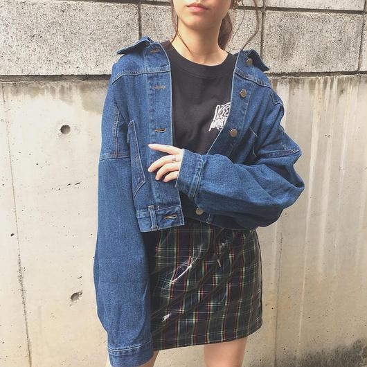remake taste  2pocket denim jacket(dark blue)