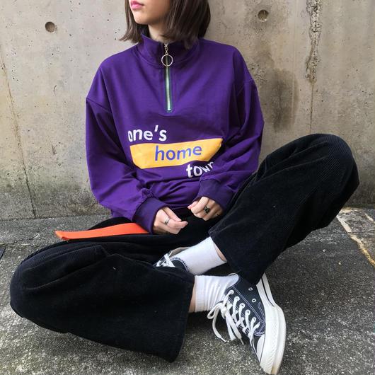 neck ring logo pullover(purple)