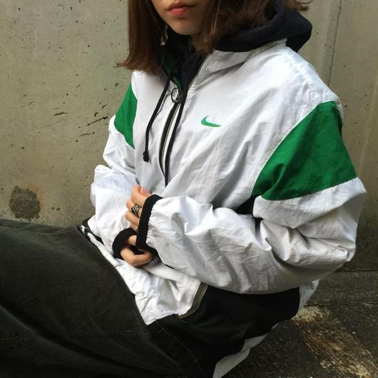Nike white green nylon jacket