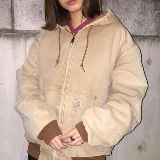 Carhartt brown hoodie jacket