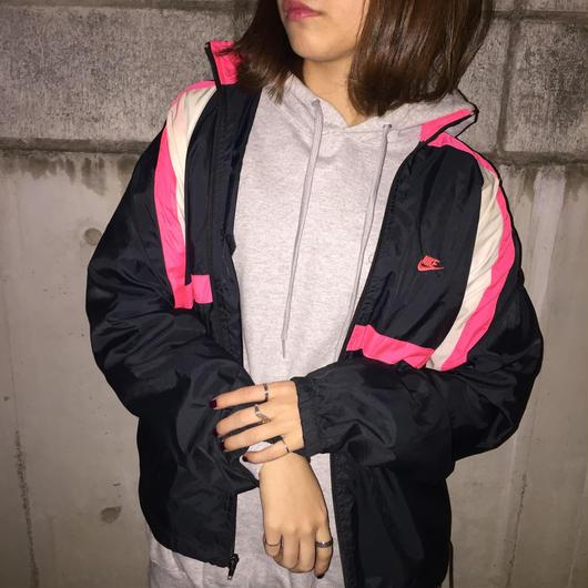 Nike pink logo nylon jacket