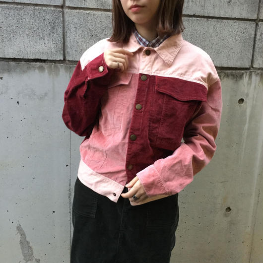 Remake taste pink corduroy jacket