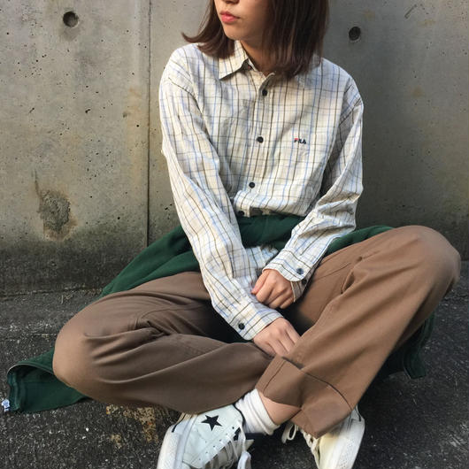 Fila beige check shirts