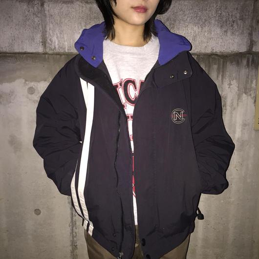 Nautica black white line nylon jacket