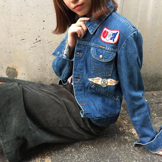 Wrangler patch denim jacket