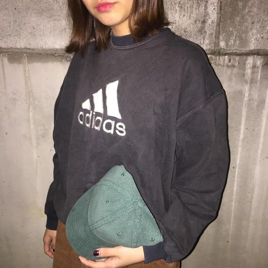Adidas black big logo sweat