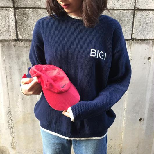 Bigi navy hard knit