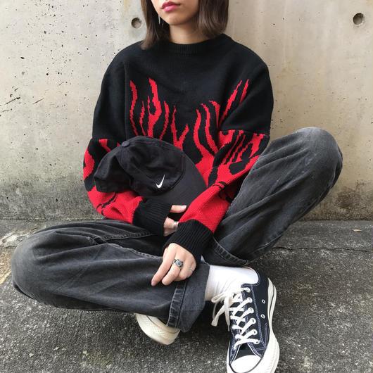 big fire knit(red)