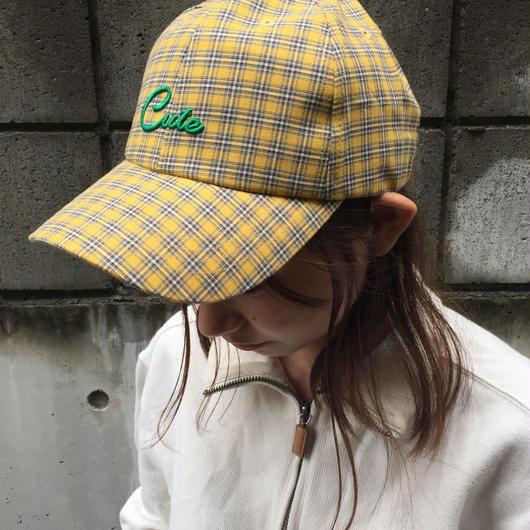 check logo baseball cap(yellow)
